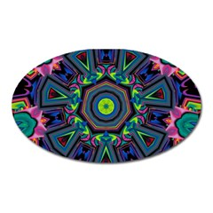 Abstract Art Background Oval Magnet