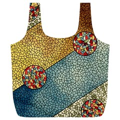 Background Cubism Circle Shape Full Print Recycle Bag (xl)