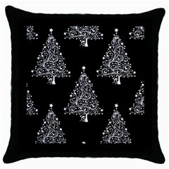 Christmas Tree Modern Background Throw Pillow Case (black)
