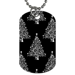 Christmas Tree Modern Background Dog Tag (one Side)