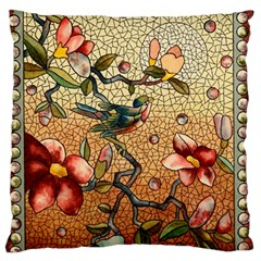 Flower Cubism Mosaic Vintage Standard Flano Cushion Case (one Side)