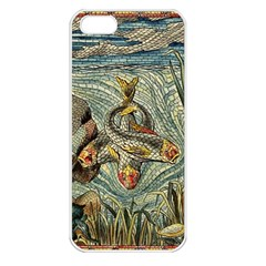 Fish Underwater Cubism Mosaic Apple Iphone 5 Seamless Case (white) by Wegoenart
