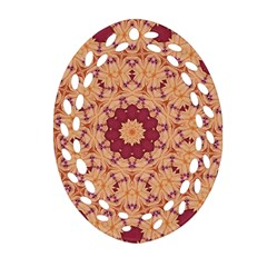 Abstract Art Abstract Background Oval Filigree Ornament (two Sides)