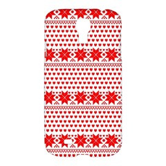 Fairisle Pattern Background Red Samsung Galaxy S4 I9500/i9505 Hardshell Case