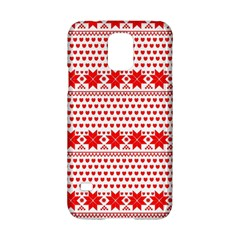 Fairisle Pattern Background Red Samsung Galaxy S5 Hardshell Case