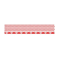 Fairisle Pattern Background Red Flano Scarf (mini)