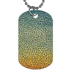 Background Cubism Mosaic Vintage Dog Tag (two Sides)