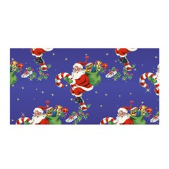 Christmas Vintage Santa Background Satin Wrap