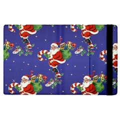 Christmas Vintage Santa Background Apple Ipad Pro 9 7   Flip Case