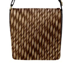 Woven Rope Texture Textures Rope Flap Closure Messenger Bag (l)