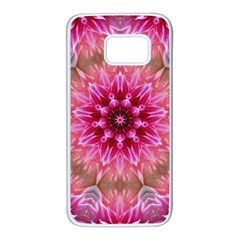 Flower Mandala Art Pink Abstract Samsung Galaxy S7 White Seamless Case