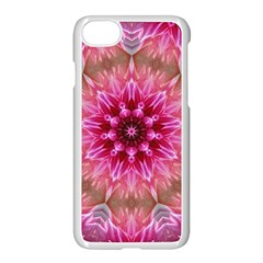 Flower Mandala Art Pink Abstract Apple Iphone 7 Seamless Case (white)
