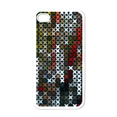 Christmas Cross Stitch Background Apple Iphone 4 Case (white)