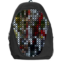 Christmas Cross Stitch Background Backpack Bag