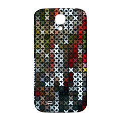 Christmas Cross Stitch Background Samsung Galaxy S4 I9500/i9505  Hardshell Back Case