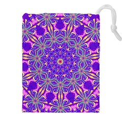 Art Abstract Background Drawstring Pouch (xxl)