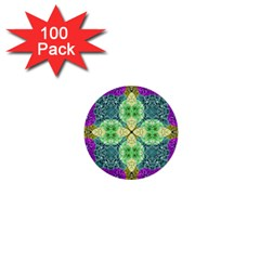 Flower Design Design Artistic 1  Mini Buttons (100 Pack)