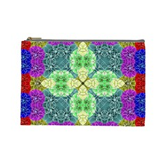 Flower Design Design Artistic Cosmetic Bag (large)