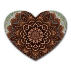 Abstract Art Texture Mandala Heart Mousepads