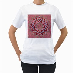 Abstract Art Abstract Background Women s T Shirt (white) (two Sided)