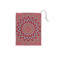 Abstract Art Abstract Background Drawstring Pouch (small)