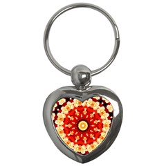 Abstract Art Abstract Background Key Chains (heart)
