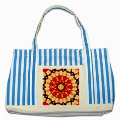 Abstract Art Abstract Background Striped Blue Tote Bag by Wegoenart