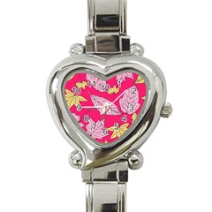 Autumn Dried Leaves Dry Nature Heart Italian Charm Watch