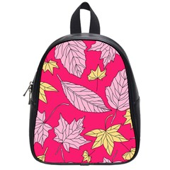 Autumn Dried Leaves Dry Nature School Bag (small)