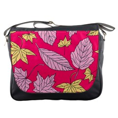 Autumn Dried Leaves Dry Nature Messenger Bag by Wegoenart