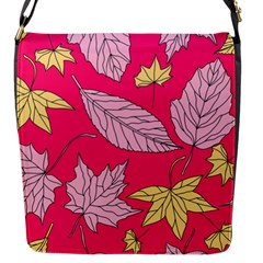 Autumn Dried Leaves Dry Nature Flap Closure Messenger Bag (s) by Wegoenart