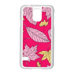 Autumn Dried Leaves Dry Nature Samsung Galaxy S5 Case (white) by Wegoenart