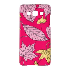 Autumn Dried Leaves Dry Nature Samsung Galaxy A5 Hardshell Case  by Wegoenart