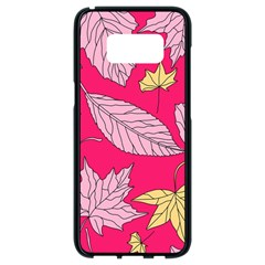 Autumn Dried Leaves Dry Nature Samsung Galaxy S8 Black Seamless Case by Wegoenart