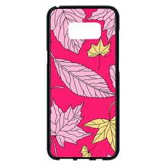 Autumn Dried Leaves Dry Nature Samsung Galaxy S8 Plus Black Seamless Case by Wegoenart