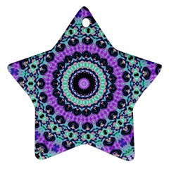 Abstract Art Background Star Ornament (two Sides)