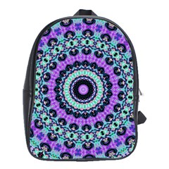 Abstract Art Background School Bag (xl)