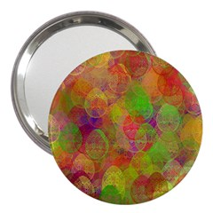 Easter Egg Colorful Texture 3  Handbag Mirrors