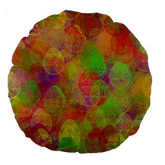 Easter Egg Colorful Texture Large 18  Premium Round Cushions