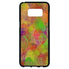 Easter Egg Colorful Texture Samsung Galaxy S8 Black Seamless Case