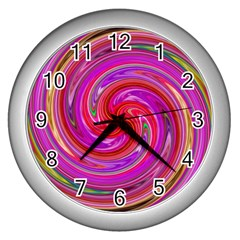 Abstract Art Abstract Background Wall Clock (silver)