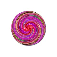 Abstract Art Abstract Background Magnet 3  (round) by Wegoenart