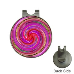 Abstract Art Abstract Background Hat Clips With Golf Markers