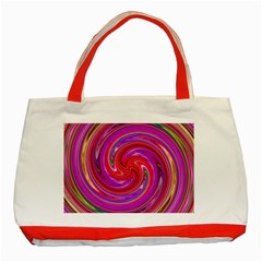 Abstract Art Abstract Background Classic Tote Bag (red) by Wegoenart