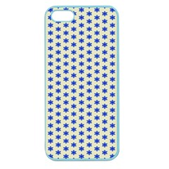 Star Background Backdrop Blue Apple Seamless Iphone 5 Case (color)