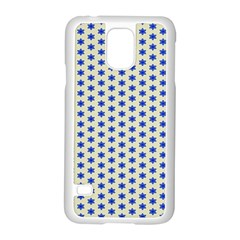 Star Background Backdrop Blue Samsung Galaxy S5 Case (white)