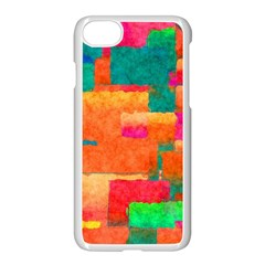 Pattern Texture Background Color Apple Iphone 8 Seamless Case (white) by Wegoenart