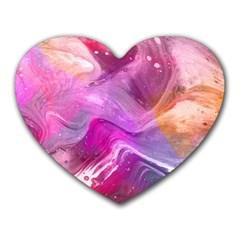 Background Art Abstract Watercolor Heart Mousepads
