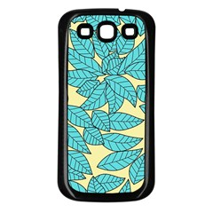 Leaves Dried Leaves Stamping Samsung Galaxy S3 Back Case (black)