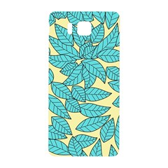 Leaves Dried Leaves Stamping Samsung Galaxy Alpha Hardshell Back Case by Wegoenart